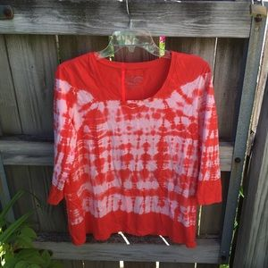 NWOT red and white top!!